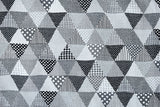 Japanese Fabric Yuwa - Triangle patches - monotone