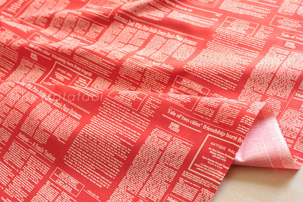 Suzuko Koseki Text Ads - red - fat quarter