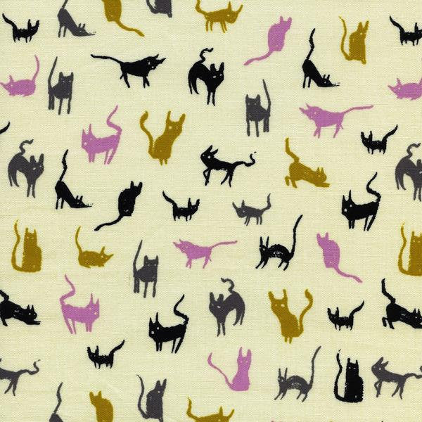 Cotton + Steel Spellbound - moon cat ivory - fat quarter