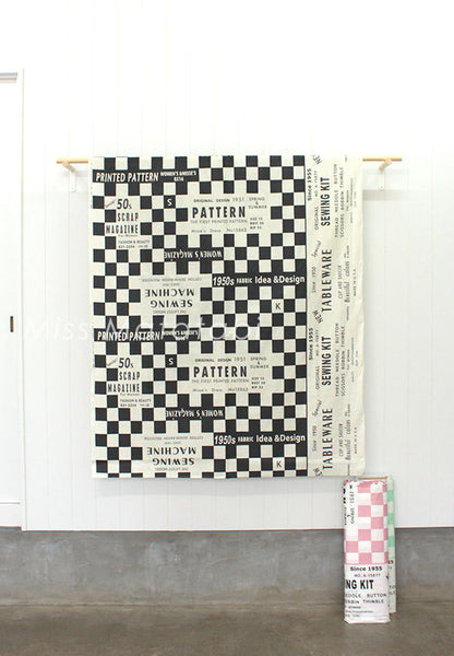 Suzuko Koseki sewing check - black - fat quarter