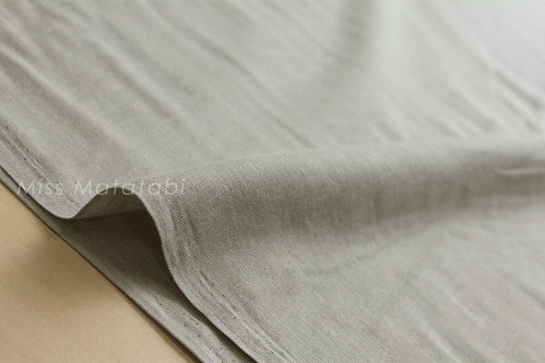 Kobayashi solid double gauze - light grey