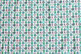 Japanese Kei Fabric retro fruit - pink, green