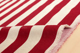 Japanese Fabric - Large stripes - red, natural
