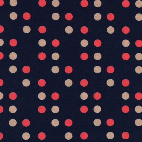 Cotton + Steel Lucky Strikes - dime store dot navy