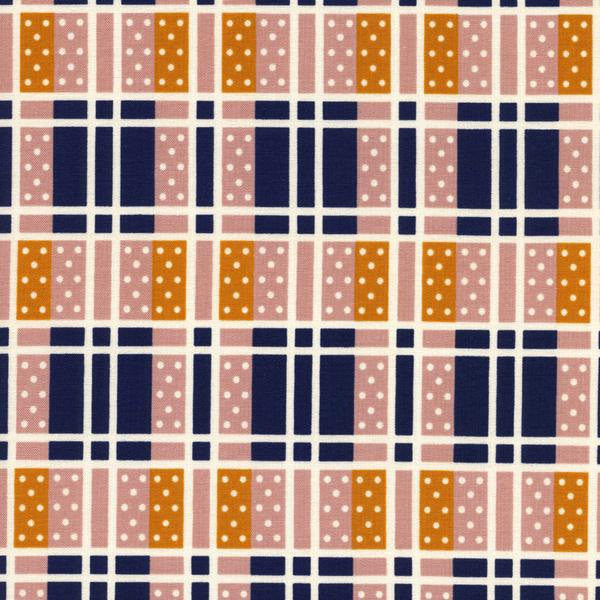 Cotton + Steel Lucky Strikes - domino plaid navy - fat quarter