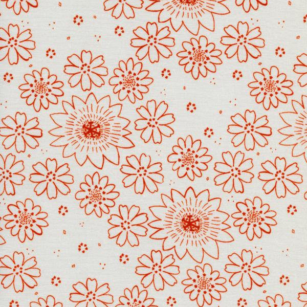 Cotton + Steel Paper Bandana - posy copper - fat quarter