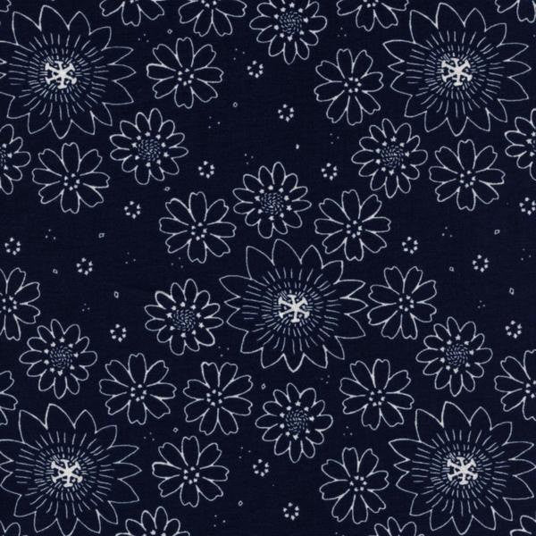 Cotton + Steel Paper Bandana - posy indigo - fat quarter