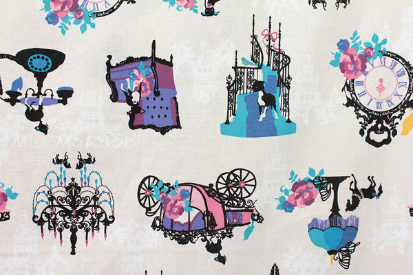 Japanese Fabric - Kayo Horaguchi - In The Castle - ow - fat quarter