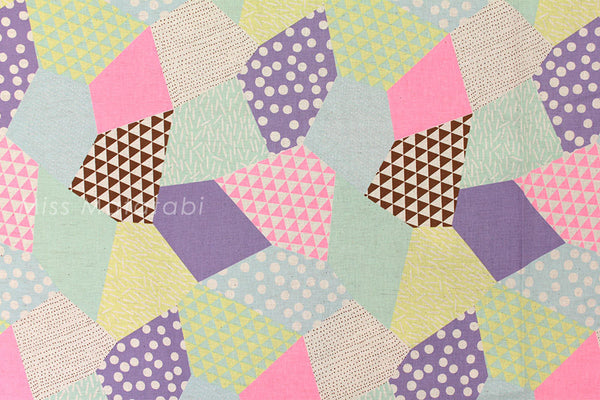 Kokka Trefle-L neon patch - B - fat quarter