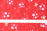 Cotton + Steel Tinsel - winter pomegranates red
