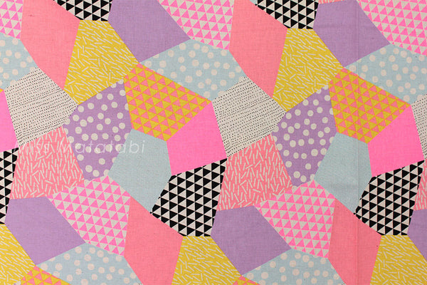 Kokka Trefle-L neon patch - A - fat quarter