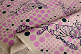Kokka Ranrara rabbit - purple - fat quarter