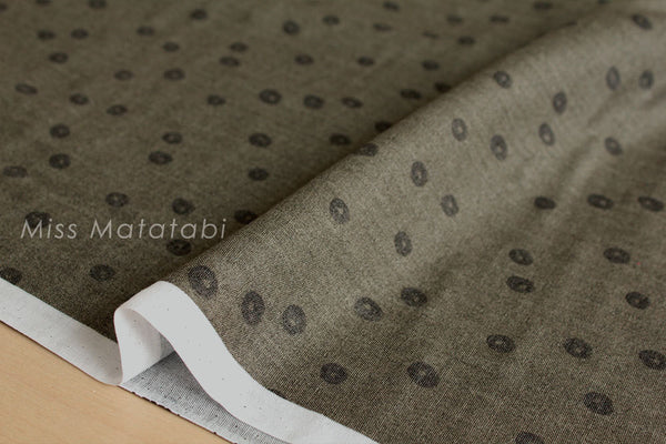Japanese Fabric Kokka trefle-d maru double gauze - D
