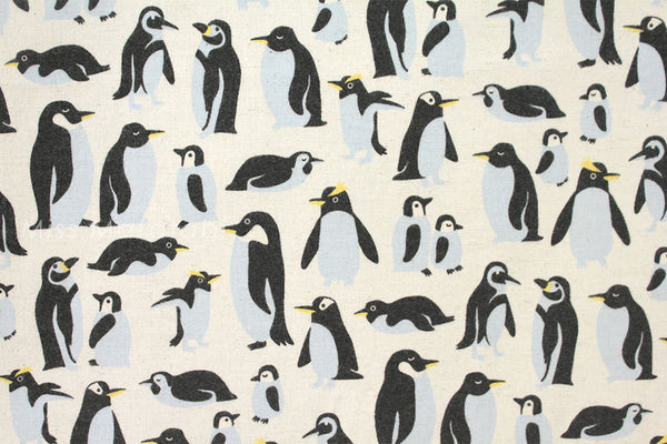 Kokka Nordic penguins - cream - fat quarter