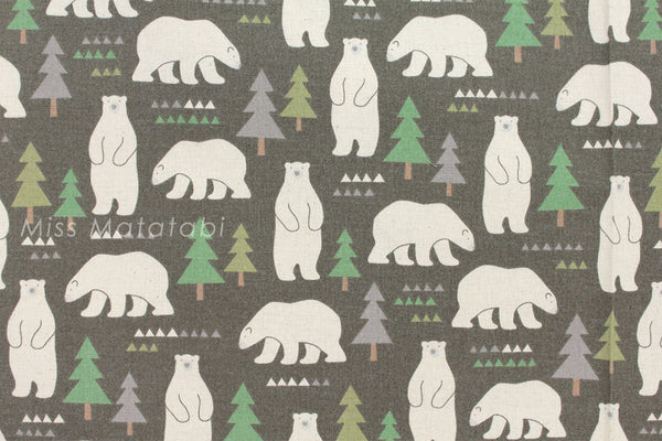 Kokka Nordic bears - green - fat quarter