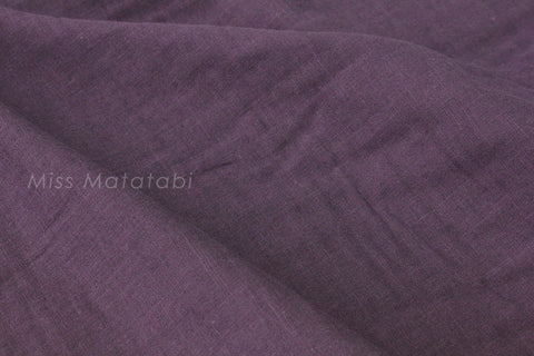 Kobayashi solid TRIPLE gauze - purple