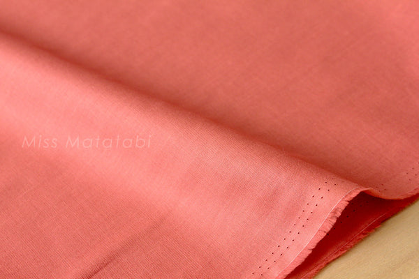 Solid cotton lawn - coral