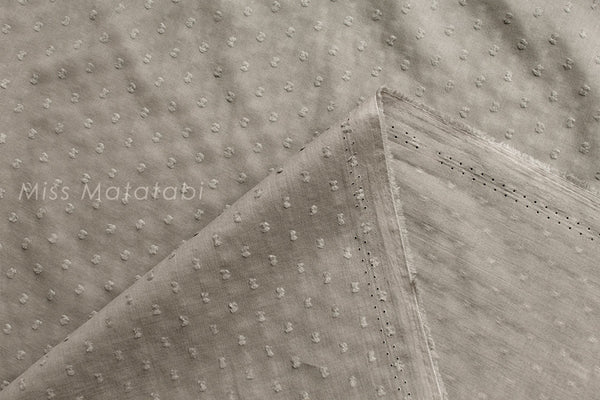 Swiss Dots - cotton lawn - taupe
