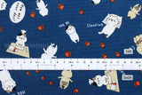 Sonoda-kun cat - dark blue - fat quarter
