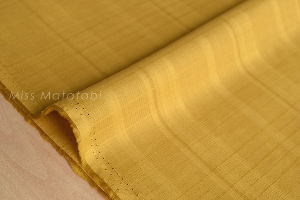 Japanese Fabric - yarn dyed dobby lawn - mustard