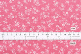 Japanese Fabric - chambray floral  - pink