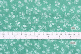 Japanese Fabric - chambray floral  - green