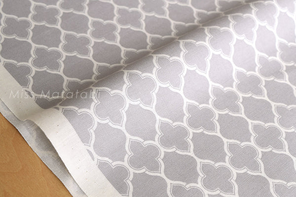 Japanese Fabric Yuwa Moroccan geometric - grey - fat quarter
