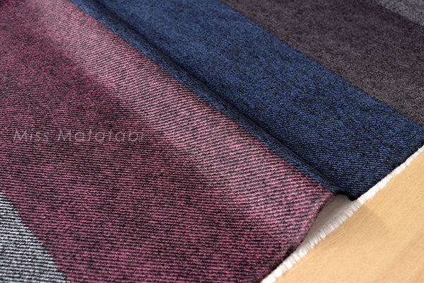 With Reality - faux wool twill canvas - stripes - B