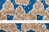 Japanese Fabric - snow trees canvas - blue - fat quarter