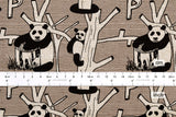P is for Panda - taupe grey - fat quarter