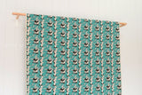 Japanese Fabric - P is for Panda - bright teal - fat quarter