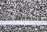 Japanese Fabric Bold flower - gray