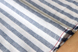 Japanese Fabric - yarn dyed stripes - chambray blue