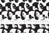 Panda - black, white - fat quarter