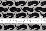 Cat - black, grey - fat quarter