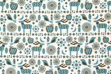 Japanese Fabric Yuwa Cotorienne Twinkling - white, blue - fat quarter