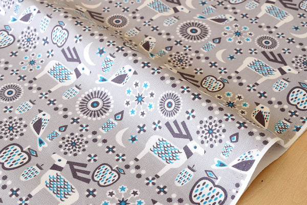 Japanese Fabric Yuwa Cotorienne Twinkling - grey, blue - fat quarter