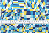 Japanese Fabric Yuwa Cotorienne Day Dreamer - blue, yellow - fat quarter