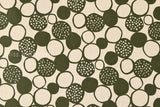Japanese Fabric - big pebbles canvas - green