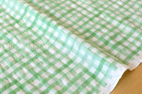 Seersucker Lawn - Gingham Check - B