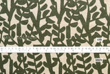 Japanese Fabric - Branch canvas - green - fat quarter