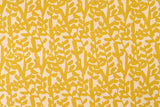 Japanese Fabric - Branch canvas - mustard yellow