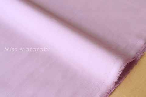 Japanese Fabric - yarn dyed solid lawn  - mauve