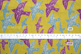Japanese Fabric - crayon birds canvas - C - fat quarter