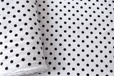 Dots French Terry Knit - black, grey