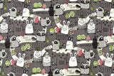 Kei Fabric Kachi Kachi Mountain - B - fat quarter