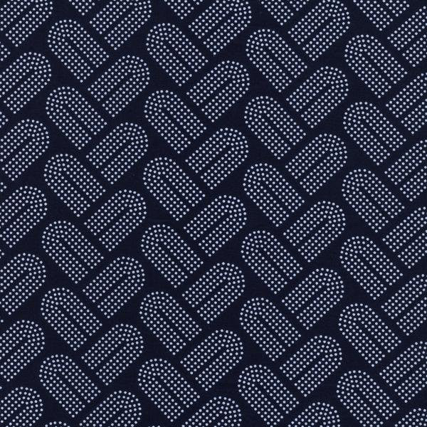 Cotton + Steel Macrame - braidy navy - fat quarter