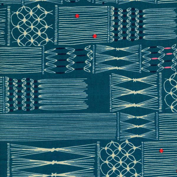 Cotton + Steel Macrame - wall hanging deep sea - fat quarter