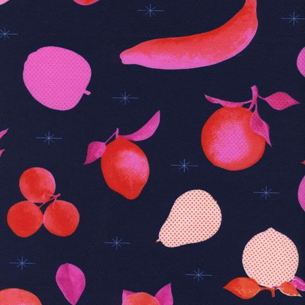 Cotton + Steel Fruit Dots - fruit stand navy