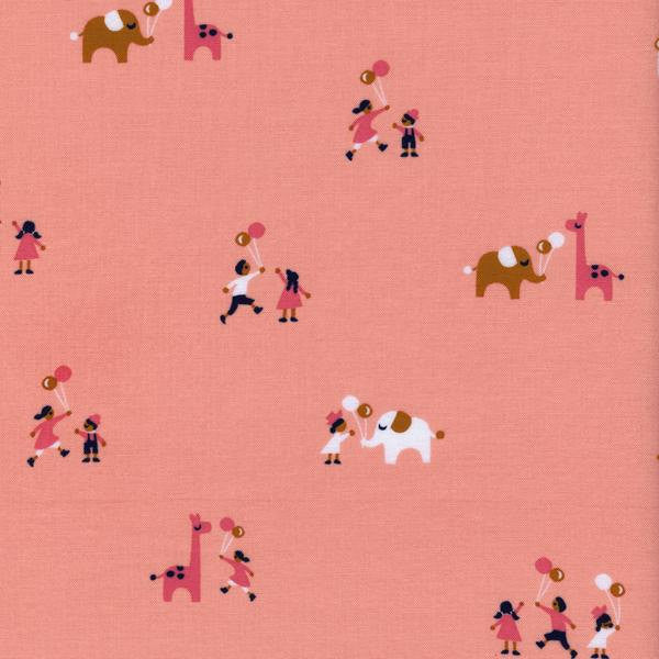 Cotton + Steel Penny Arcade - balloons pink - fat quarter